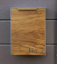 Modern Mailbox Narrow, Teak Wall Mounted mailbox, Narrow ...