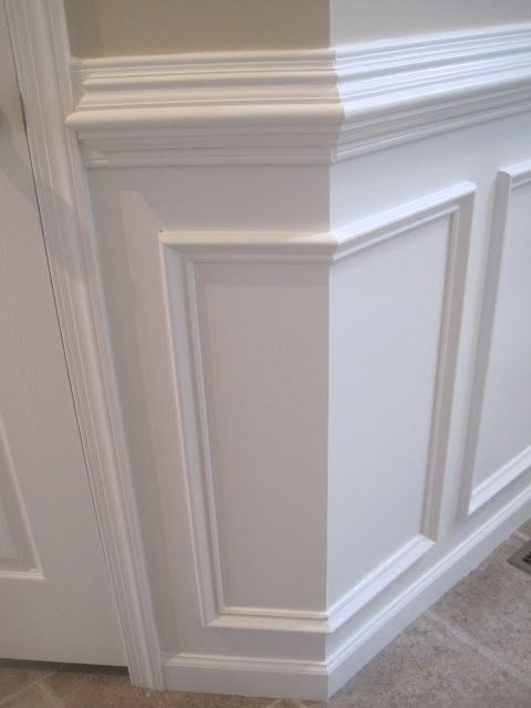 chair moulding ideas ivory covers for weddings designed to dwell: tips installing rail & wainscoting | wainscotting on stairs ...