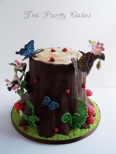 Tree Stump Cake by Tea Party Cakes | Cake inspiration ...
