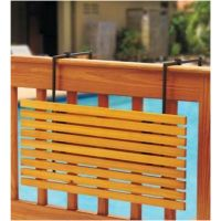 Folding Patio Deck Rail Shelf Table Natural Finish