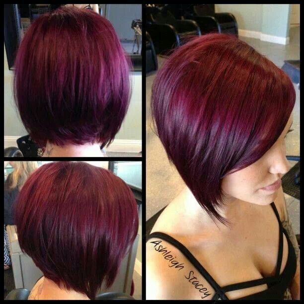 25 Best Ideas About Short Burgundy Hair On Pinterest Plum Hair