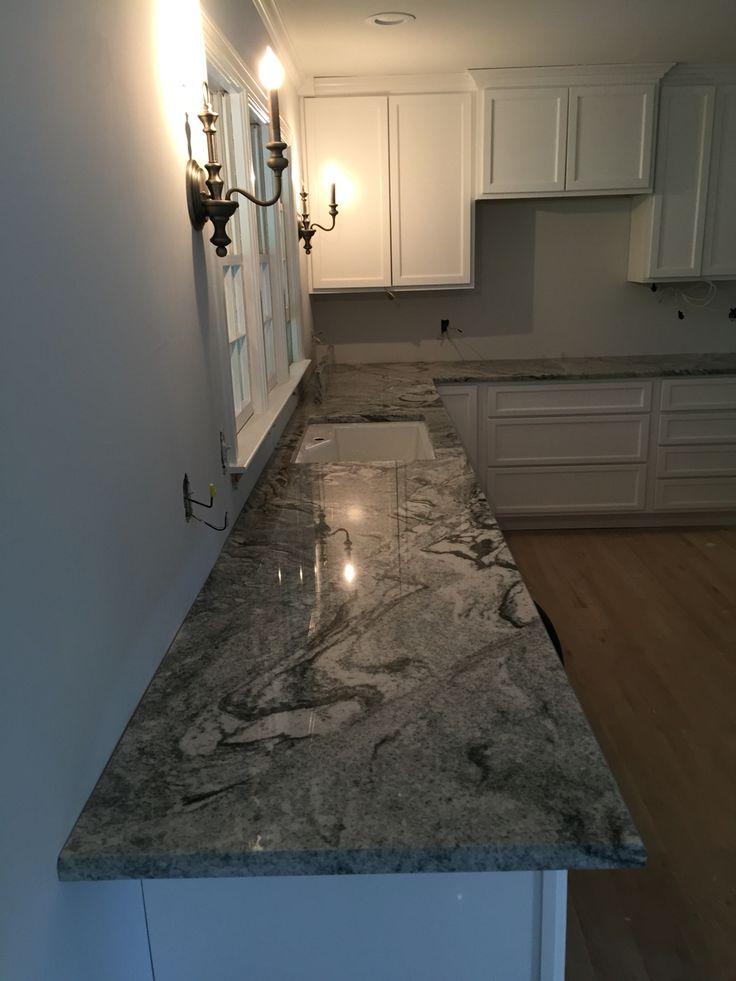 Kitchen Remodel Viscon White Granite  Traditional