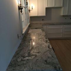 Countertops For Kitchens Black Kitchen Appliances Remodel Viscon White Granite | Traditional ...