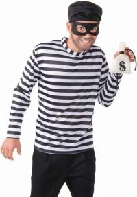 Adult Mens Burglar Bank Robber Thief Halloween Costume