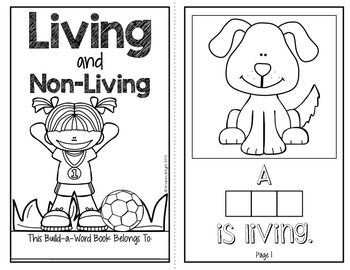 Living Vs Non Living Coloring Pages Coloring Pages