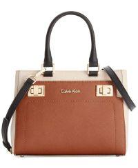 Calvin Klein Ashley Saffiano Crossbody - Designer Handbags ...