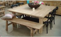 Exquisite Square Dining Table from Solid Wood: Rustic Oak ...