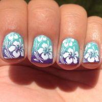 25+ best Hawaiian flower nails ideas on Pinterest