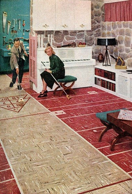 Shuffleboard Floor for your Basement or Garage from 1955
