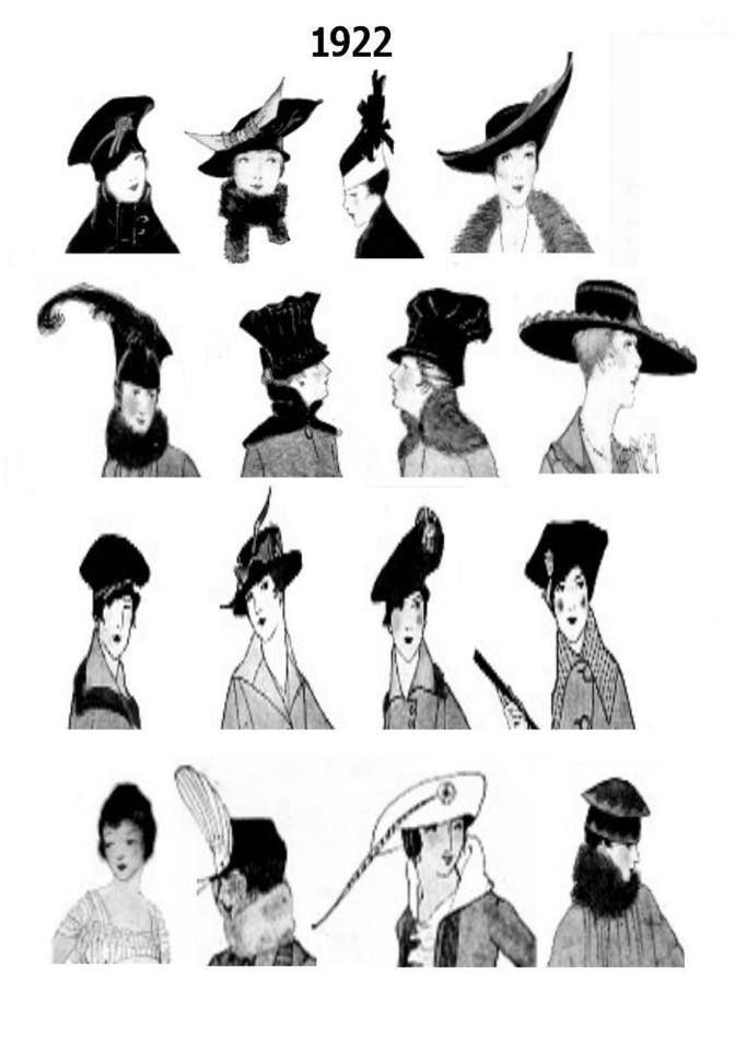 1020s art deco gals  Fashion 20s Hats Purses