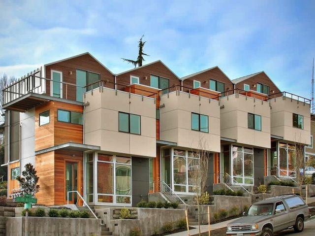 seattle townhome architecture  4Plex  DuplexFourplex
