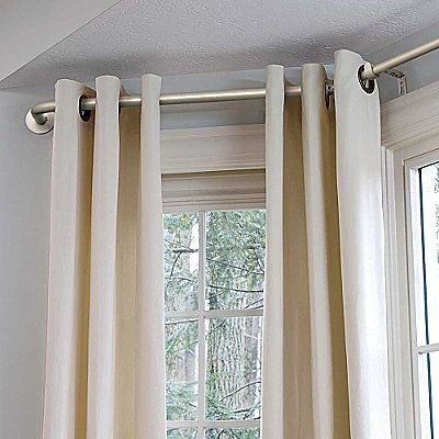 25 Best Ideas About Bay Window Curtain Rod On Pinterest Corner