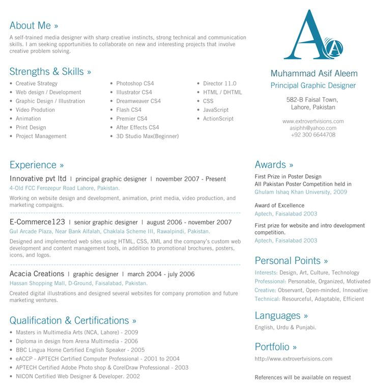 119 Best RESUMES Images On Pinterest