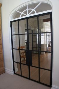 Vintage Styled Modern Design Iron French Double Door With ...