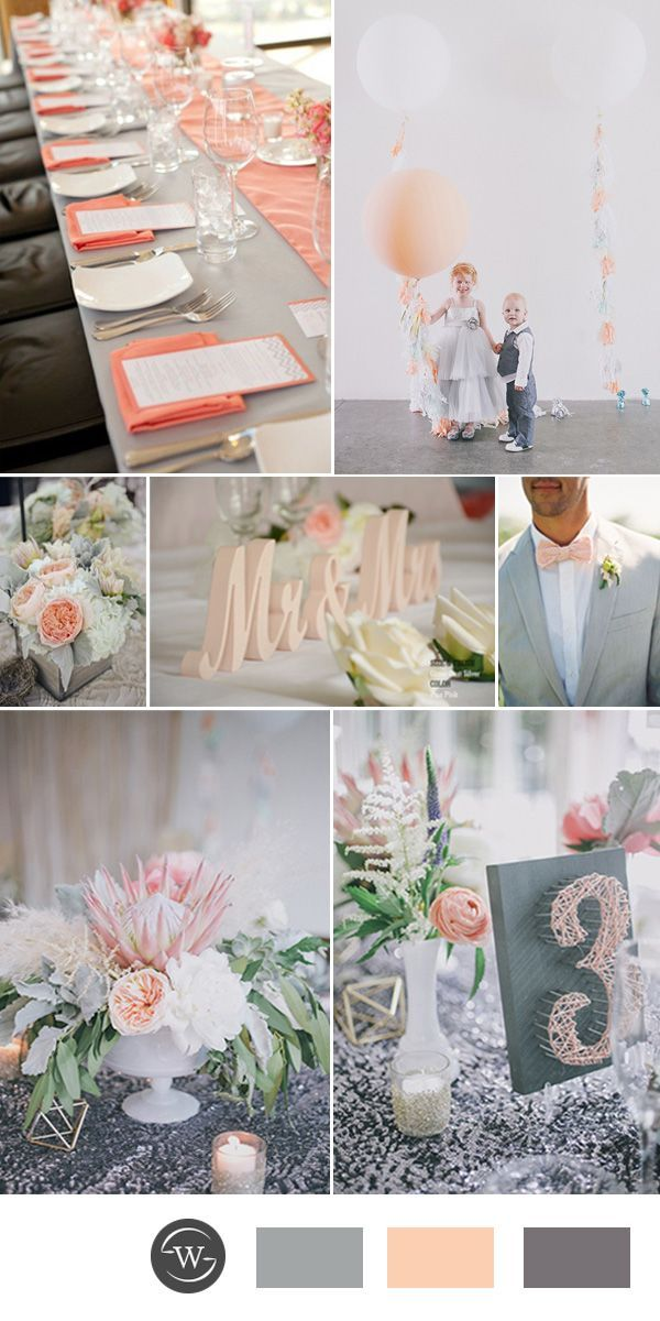 Best 25 Grey peach wedding ideas on Pinterest  Peach