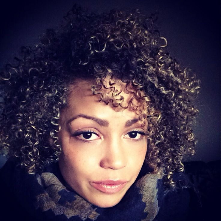 Big Curly Hair Blonde Highlights Curly Hair Pinterest
