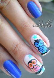 ideas owl nails