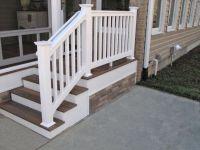 #Deck steps with white PVC railing, Fiberon Decking ...