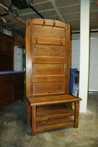 Hall bench and coat rack made from an old door | Doors ...