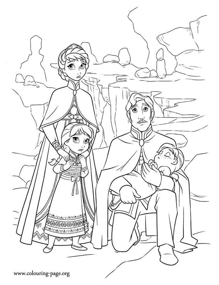 Frozen 2 Queen Anna Coloring Pages - Free Coloring Page