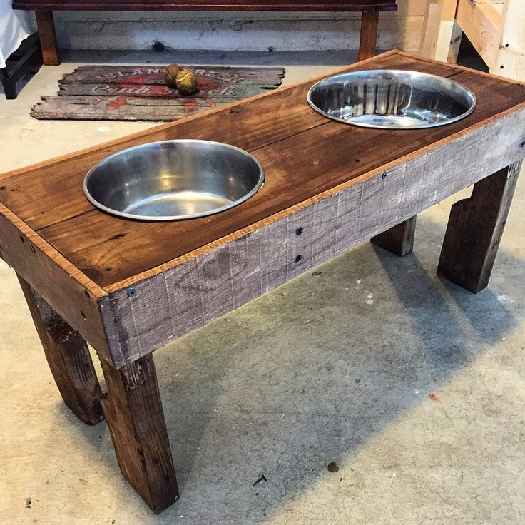 Diy Elevated Desk 17+ Best Ideas About Raised Dog Feeder On Pinterest