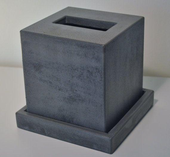 Concrete Tissue Box Cover Kleenex Tissue Box Cover Square Tissue Box Cover Tissue Box