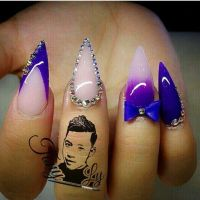 Best 20+ Purple stiletto nails ideas on Pinterest ...