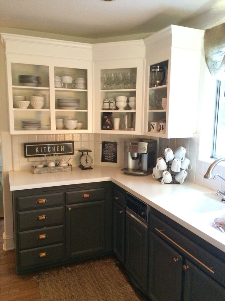 remodel kitchens kitchen las vegas simply white upper cabinets, urbane bronze lowers with ...