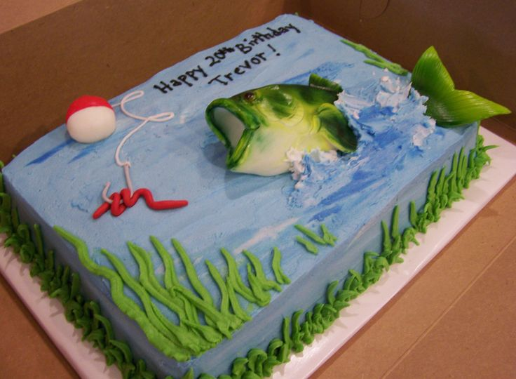 fishing chair with cooler coaster dining chairs bass cake | cakes i've made pinterest birthdays, and