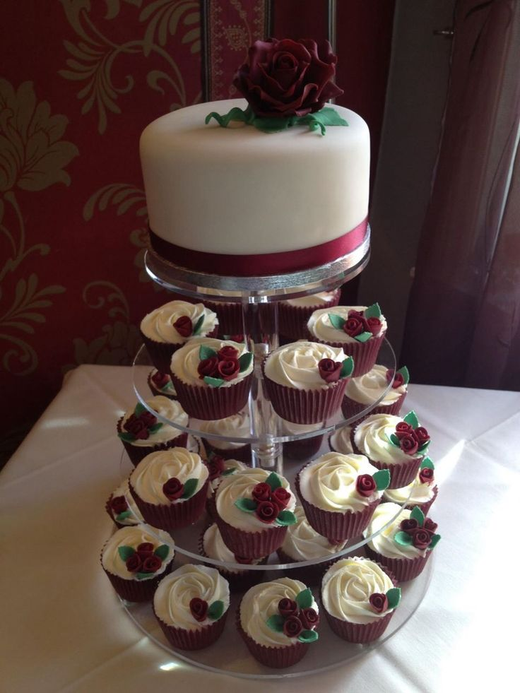 Wedding Cupcake Burgandy Browse A Collection Of Stunning