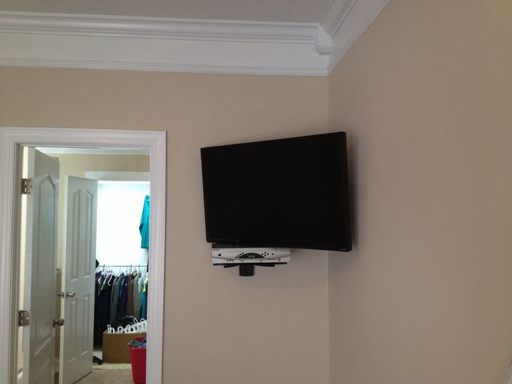 "37"" Full Motion Corner Wall Mount With Floating Shelf For"