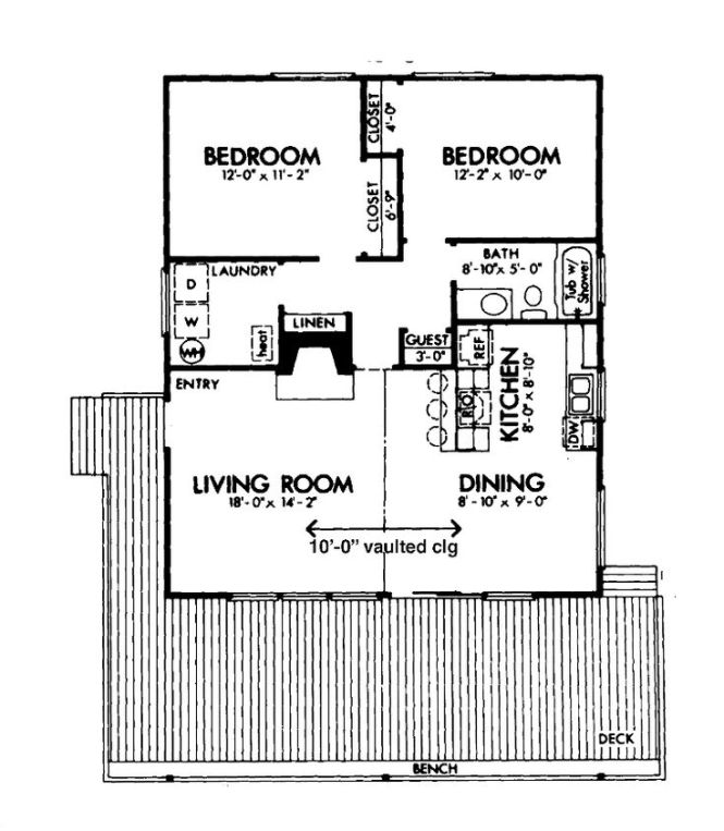 2 bedroom cabin house plans - bedroom style ideas