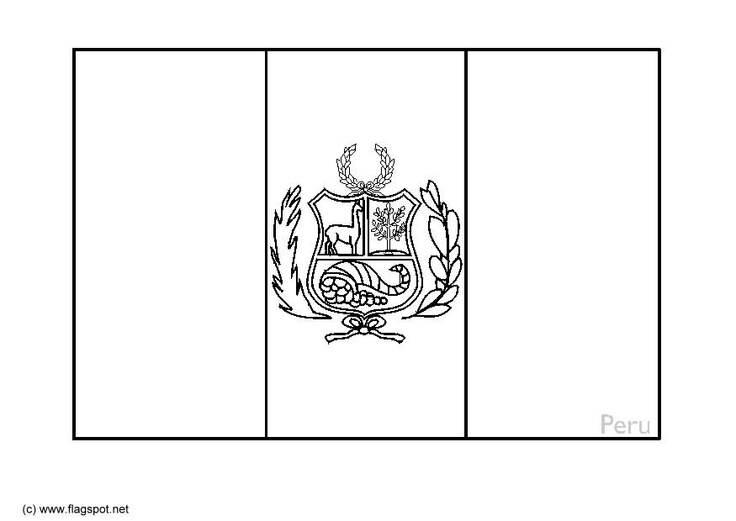 peru flag coloring page: the sides are red, blue behind