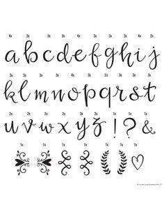 25+ best ideas about Script lettering on Pinterest