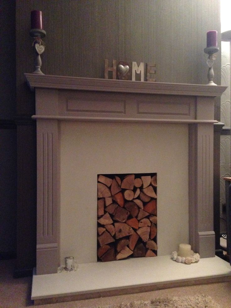 Mahogany fireplace transformed with Annie Sloan paint