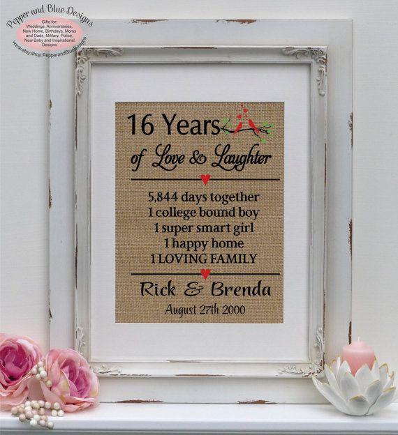 16th wedding anniversary gifts 16 years married 16 years