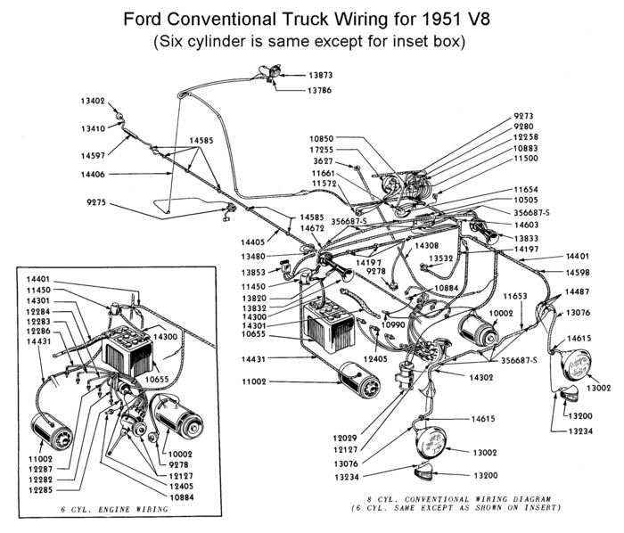 1952 ford pick up wiring diagram
