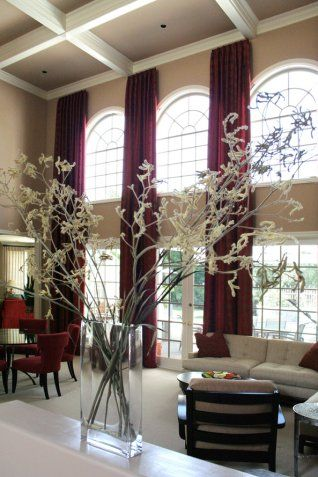 fabric accent chairs living room light colors 97 best images about two story drapery ideas on pinterest ...