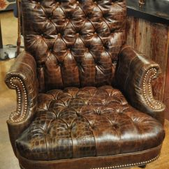 Office Chair Accessories Covers For Wingback Chairs Leather In Brown Tufted Embossed Croc. Http://www.rawhideranchco.com/ | Furniture ...