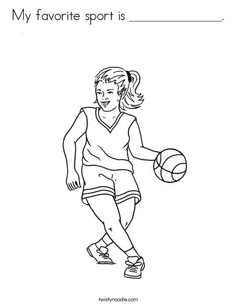 My favorite sport is ______________. Coloring Page from