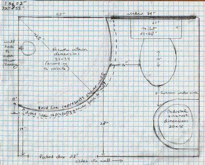 4 X 6 Bathroom Layout  Bathroom Plans On Graph Paper  home  Pinterest  Bathroom layout