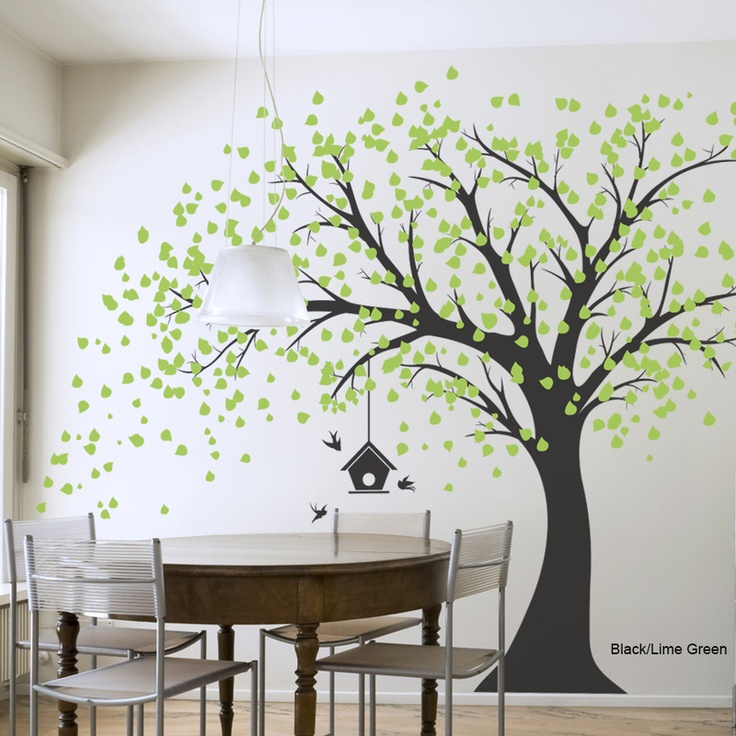 Giant Windy Tree Wall Decal I Would Paint Or Paste Little