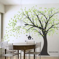 Giant Windy Tree Wall Decal. I would paint or paste little ...