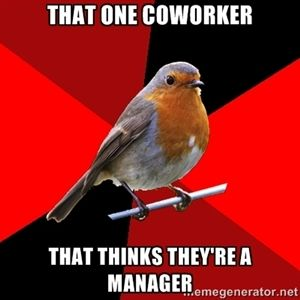 that one coworker that thinks theyre a manager | Retail Robin @Jacqui Dansereau