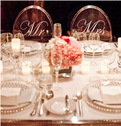 Sweethearts Table Wedding Decoration Ideas Mr  Mrs