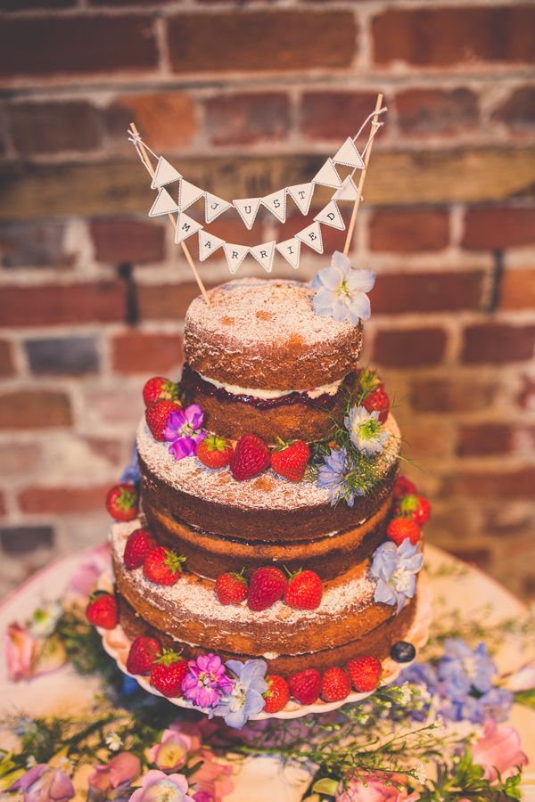 Victoria Sponge Wedding Cake At Highcliffe Castle By Nick