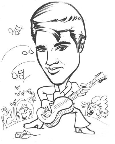 15 best images about Elvis coloring pages... on Pinterest
