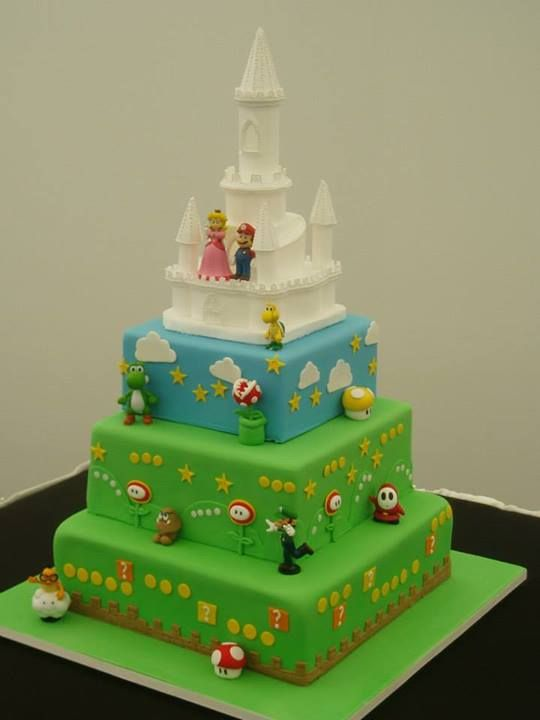 wholesale chair covers resin lawn chairs super mario wedding cake | cakes & bridal shower pinterest wedding, and ...