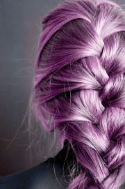 purple french braid