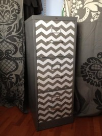 File Cabinet - spray paint and chevron contact paper | My ...